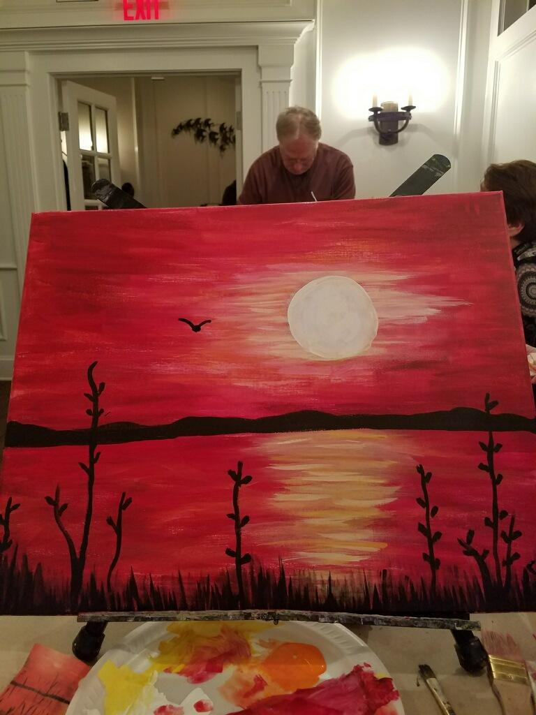 paint night sunset